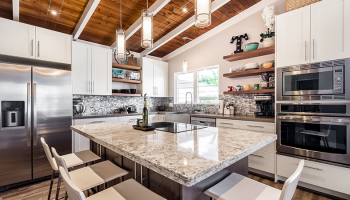 Hawaii Kitchen Remodeler – Stunning $65K Kaneohe Bay kitchen remodel for wife's anniversary gift by Design Trends Construction