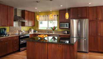 Hawaii Kitchen Remodeler – Kaneohe kitchen remodel combines 3 spaces into 1 by Homeowners Design Center