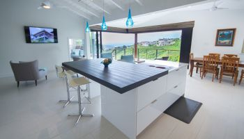 Hawaii Kitchen Remodeler - $115K Kitchen remodel results in million dollar Mariners Ridge views by Design Trends Construction