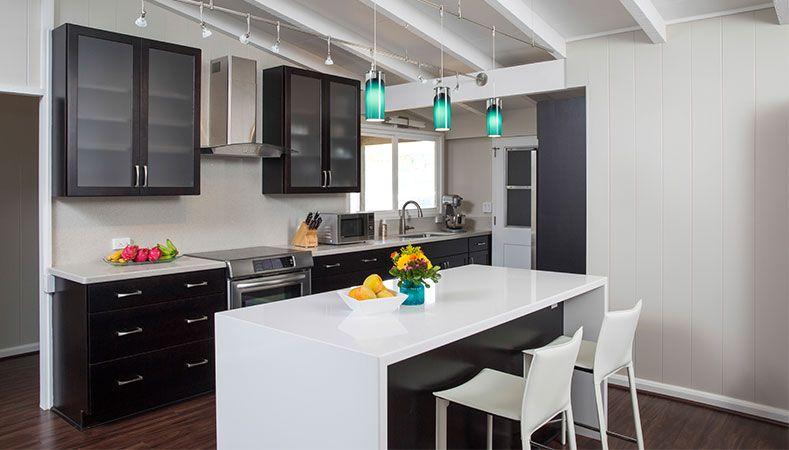 Hawaii Kitchen Remodeler—Homeowners Design Center; Galley kitchenette transformed into full, open kitchen