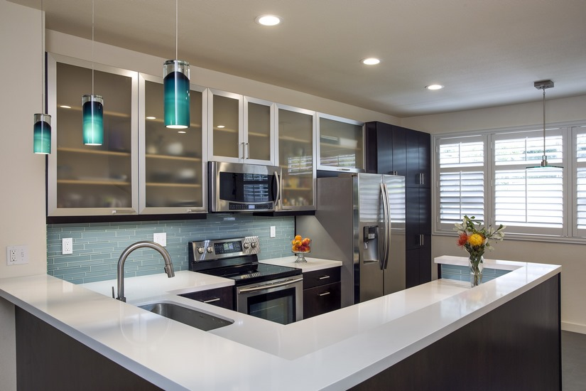 """A kitchen remodel mixes modern updates of stylishly good taste,"" featuring Homeowners Design Center."