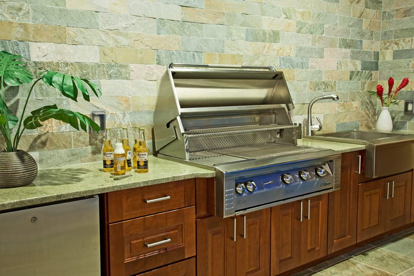 The same type of planning for the indoor kitchen went into building the outdoor kitchen.