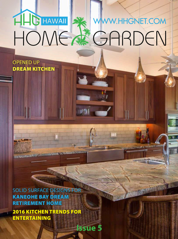 New projects and new tips in kitchen design trends in May's issue 5. Also a new gift card contest for a $50 gift card for Liliha Bakery. Click the cover photo to see it all.