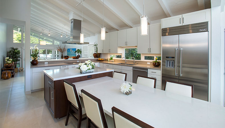 Hawaii Kitchen Remodeler — Hawaii Kai couple maximizes space in open plan kitchen remodel by Homeowners Design Center