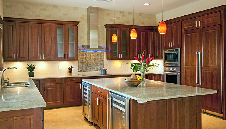 Hawaii Remodeler - New home build features two deliciously styled kitchen spaces by Homeowners Design Center